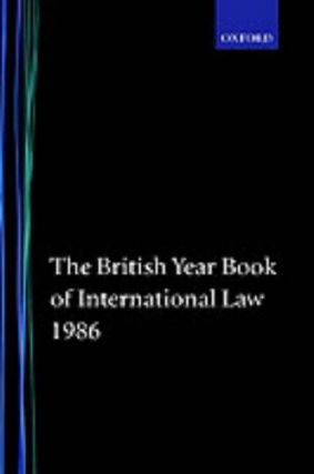 British Year Book of International Law, 1986 (Number 57). British Year Book of International Law